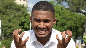 African Male And Anger. A young african american man Royalty Free Stock Photos