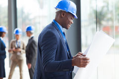 African male architect Stock Photo