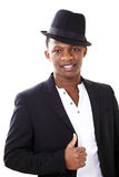 African man. Portrait of an african man in a jaunty hat Royalty Free Stock Photo