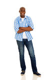 African man arms crossed Royalty Free Stock Photography