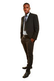 African man as businessman in a suit Royalty Free Stock Photography
