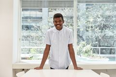 African man as a student or intern royalty free stock photos