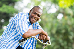 African man bicycle Stock Image