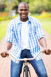 African man bike Stock Images