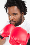 African man boxing Royalty Free Stock Images