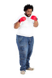 African man with boxing gloves Stock Image