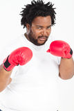 African man with boxing gloves Stock Photo