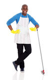 African man broom Stock Images