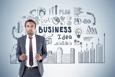 African man and business idea Stock Image