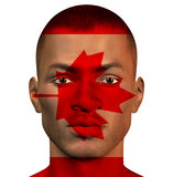 African man with canada flag Stock Photography