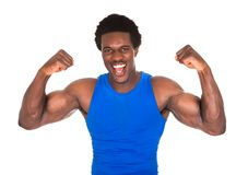 African man clenching his fist Stock Photography