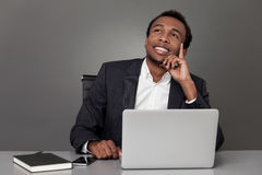 African man daydreaming Royalty Free Stock Photos