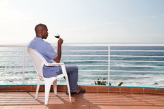 African man drinking wine Stock Photos