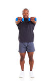 African man dumbbells Royalty Free Stock Images