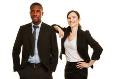 African man and european business woman Royalty Free Stock Photos
