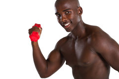 African man exercise with dumbbell Royalty Free Stock Images