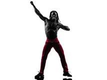 African man exercising fitness zumba dancing Stock Photo