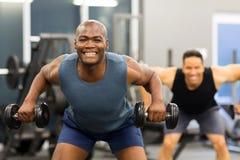 African man exercising Stock Photo