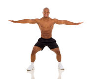 African man exercising stretching Royalty Free Stock Photos