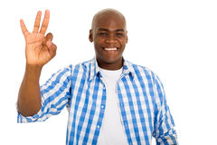 African man giving ok Royalty Free Stock Photos