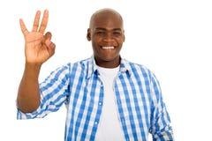 African man giving ok Royalty Free Stock Photos
