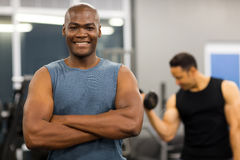 African man gym Stock Photo