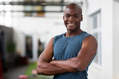 African man gym Royalty Free Stock Photos