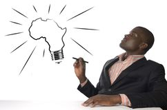 African Man has genius idea Royalty Free Stock Image