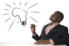 African Man has genius idea Royalty Free Stock Image