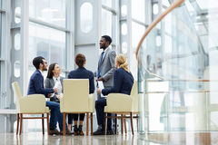 African man Leading Presentation Meeting Royalty Free Stock Photo