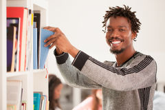 African Man at the Library Royalty Free Stock Images