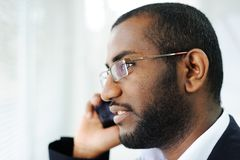 African man on the phone Stock Images