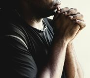African man prayer faith in christianity religion royalty free stock photos