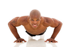 African man pushups Royalty Free Stock Images