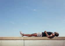 African man relaxing after his workout Stock Image