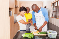 African man salad family Stock Photography