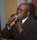 African man singing live Stock Images