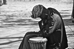 African Man. A man sleeping on his bongos,in village in Sud Africa Royalty Free Stock Photo