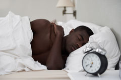 African man sleeping Royalty Free Stock Photo