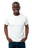 African man smiling isolated over a white Royalty Free Stock Photography