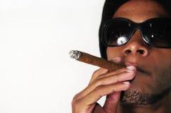 African man smoking Stock Images
