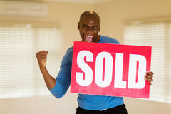 African man sold sign Royalty Free Stock Photos