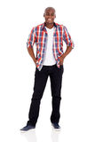 African man standing. Happy african man standing on white background Stock Images