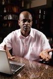 African man talking Stock Photo