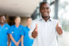 African man thumbs up stock photography