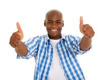 African man thumbs up Stock Photos