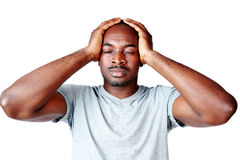African man touching his head Royalty Free Stock Photography