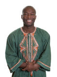 African man with traditional clothes and crossed arms Royalty Free Stock Image
