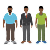 African man. Vector illustration of african man. Businessman, adult and teenager Royalty Free Illustration