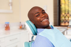 African man visiting dentist Royalty Free Stock Images